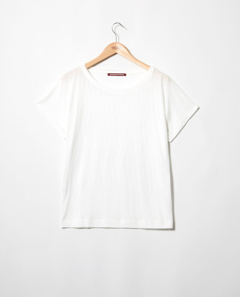 Soft-touch t-shirt Off white Ivoire