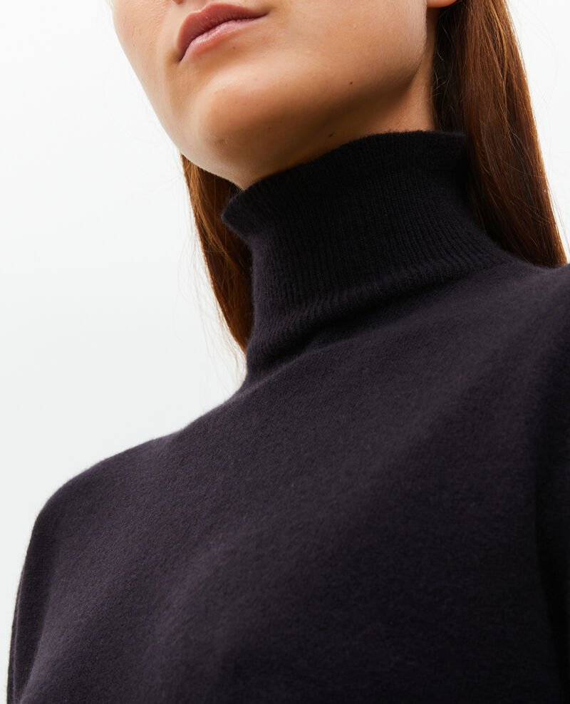 3D fine cashmere turtleneck jumper Black beauty Mane