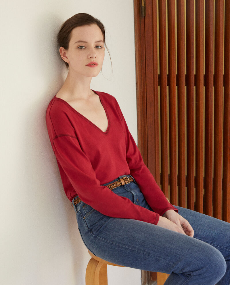 Cotton T-shirt Rio red Gonia