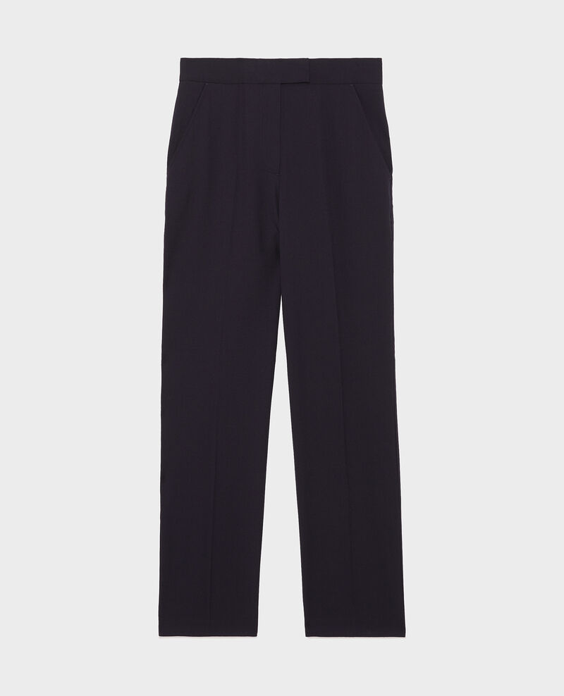 Straight wool boyfriend trousers MARCELLE Night sky Misabelle