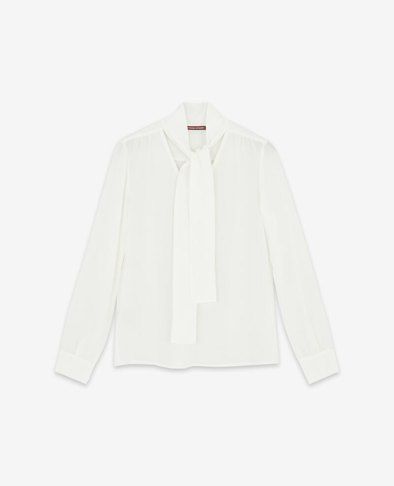 Silk pussybow blouse Off white Delivera
