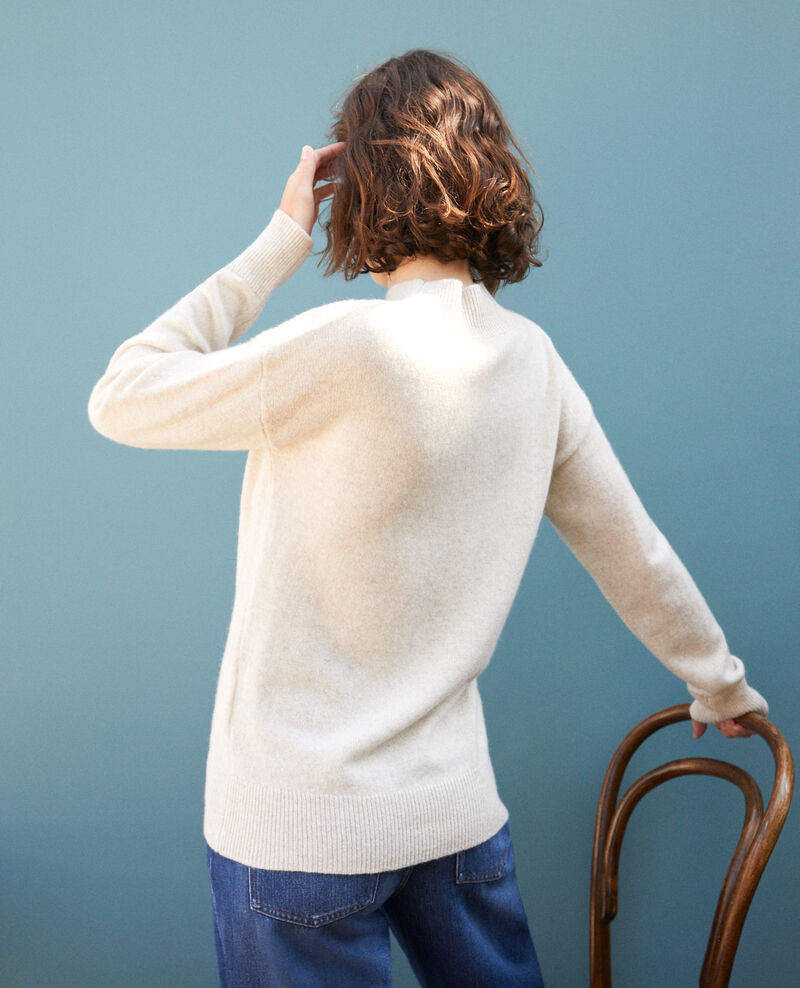 Cashmere jumper with high collar  Beige Gladissio
