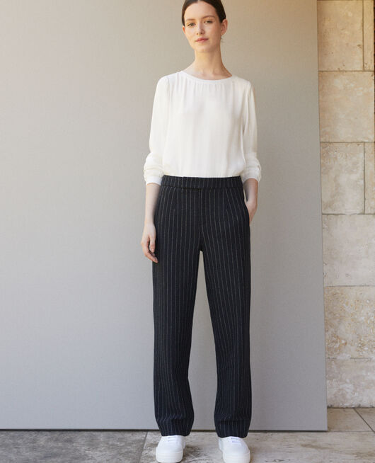 Thick trousers NAVY/OFF WHITE