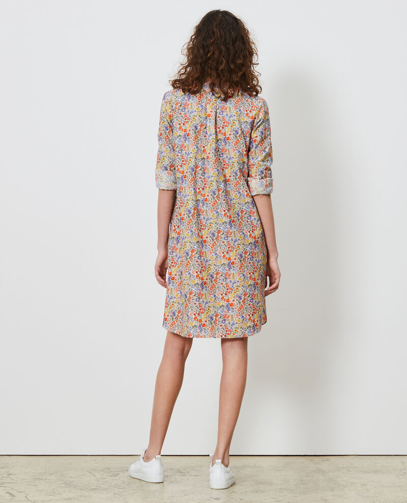 Cotton and silk shirt dress Prairie gardenia Nyonsaise