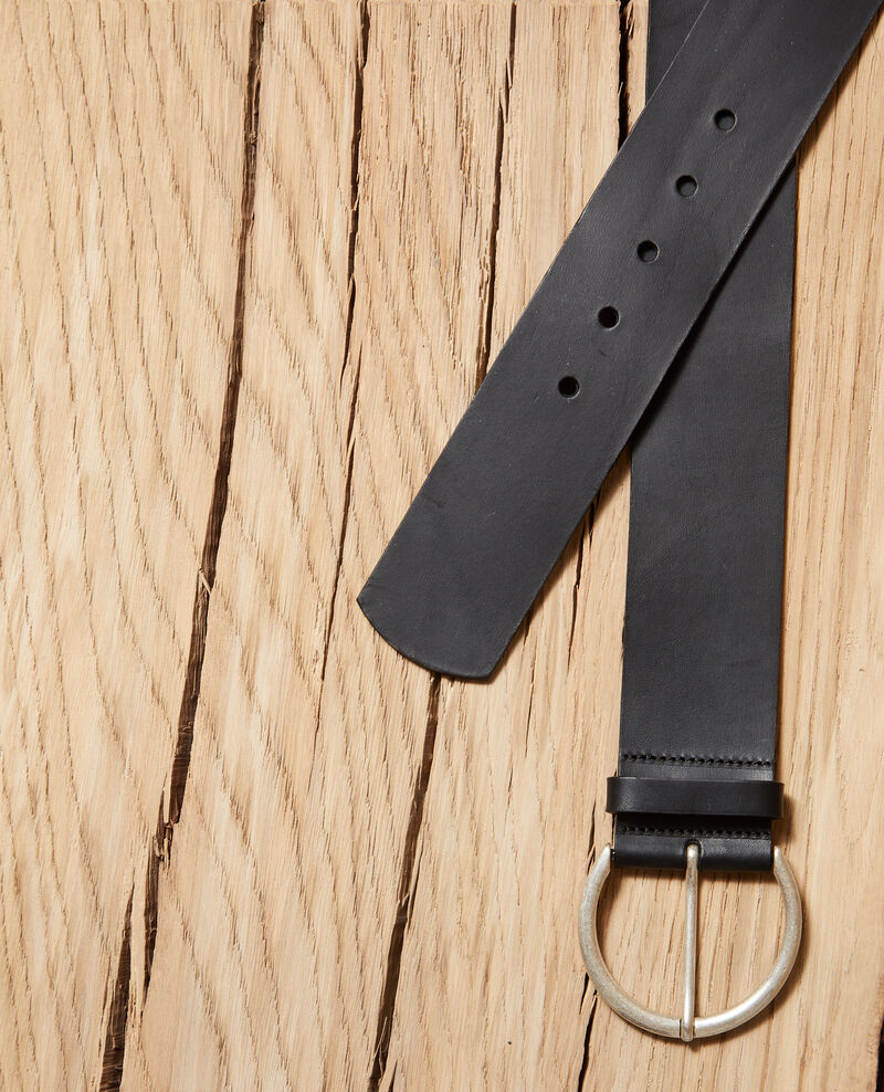 Leather belt Black Garge