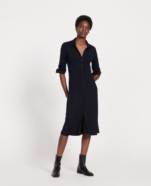 Silk jersey dress MARITIME BLUE