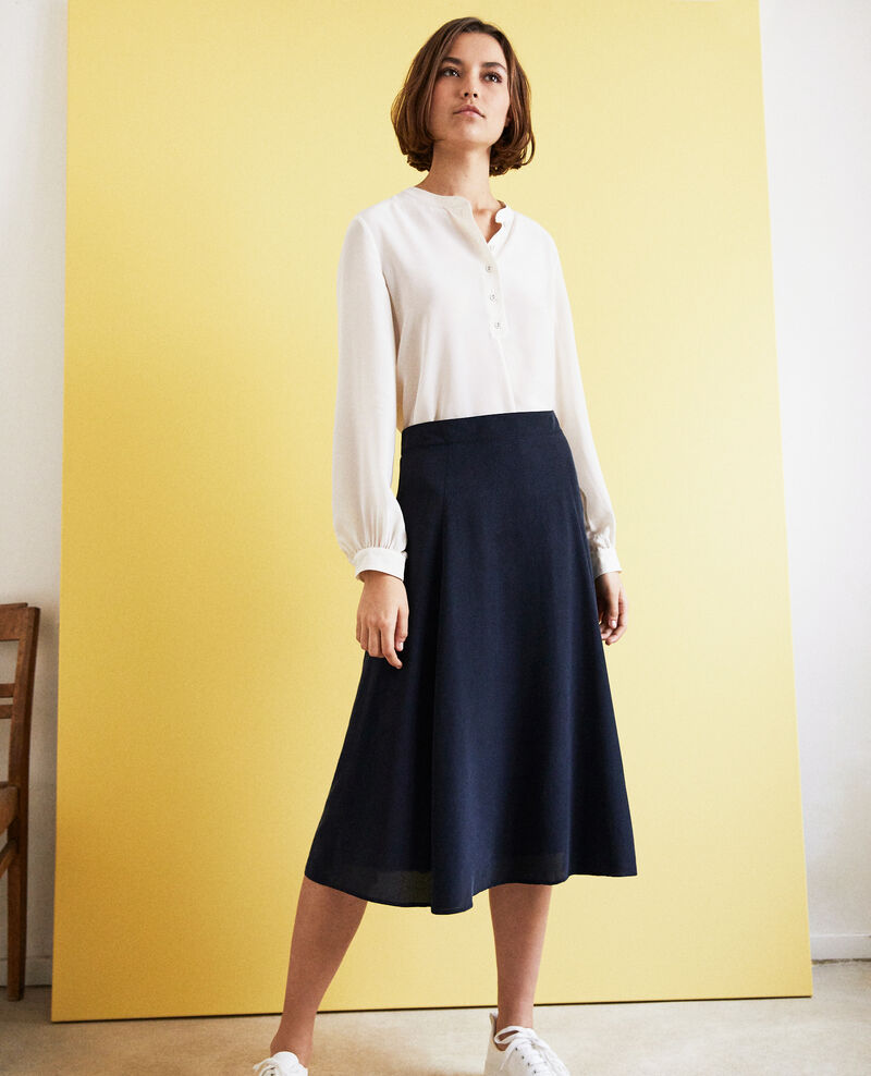High-waist skirt Bleu marine Ian