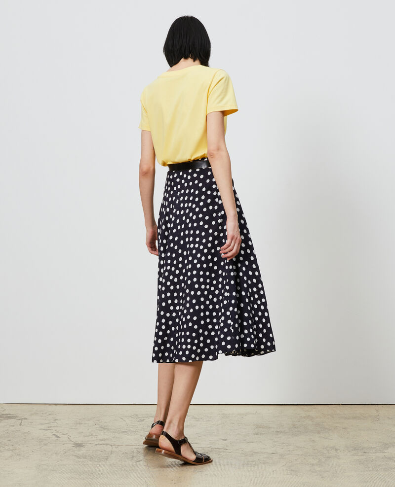Silk skater skirt Big dots Nauraule