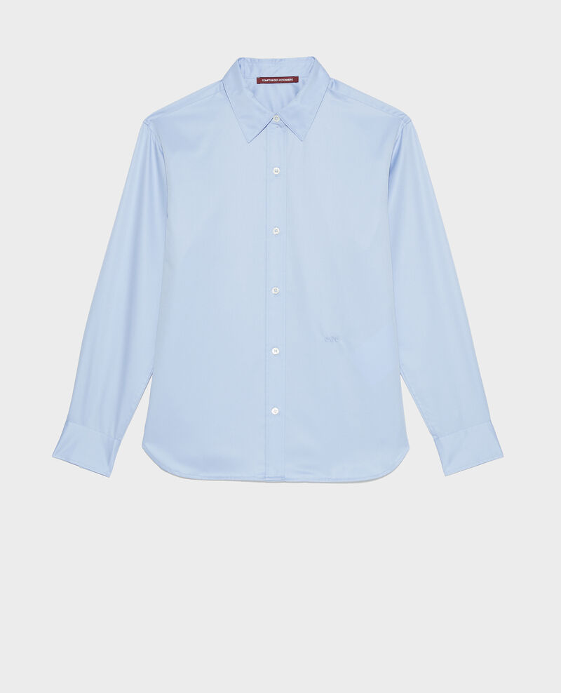 Supima cotton boyfriend shirt Classic blue Mynde