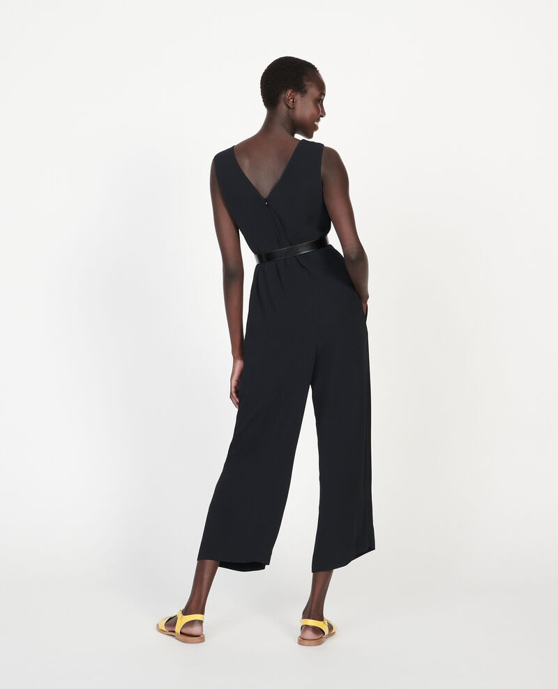 Viscose jumpsuit Black beauty Lintrex