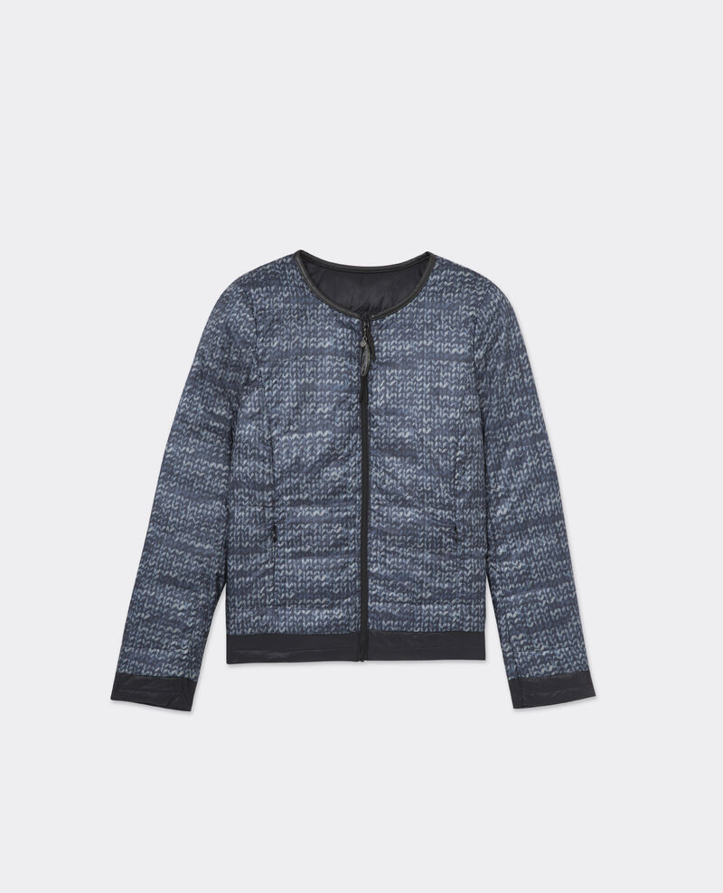 Reversible Printed Down Jacket Midnight blue Vocooning