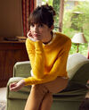 Novelty knit jumper 100% Merino Wool Spicy mustard Jikael