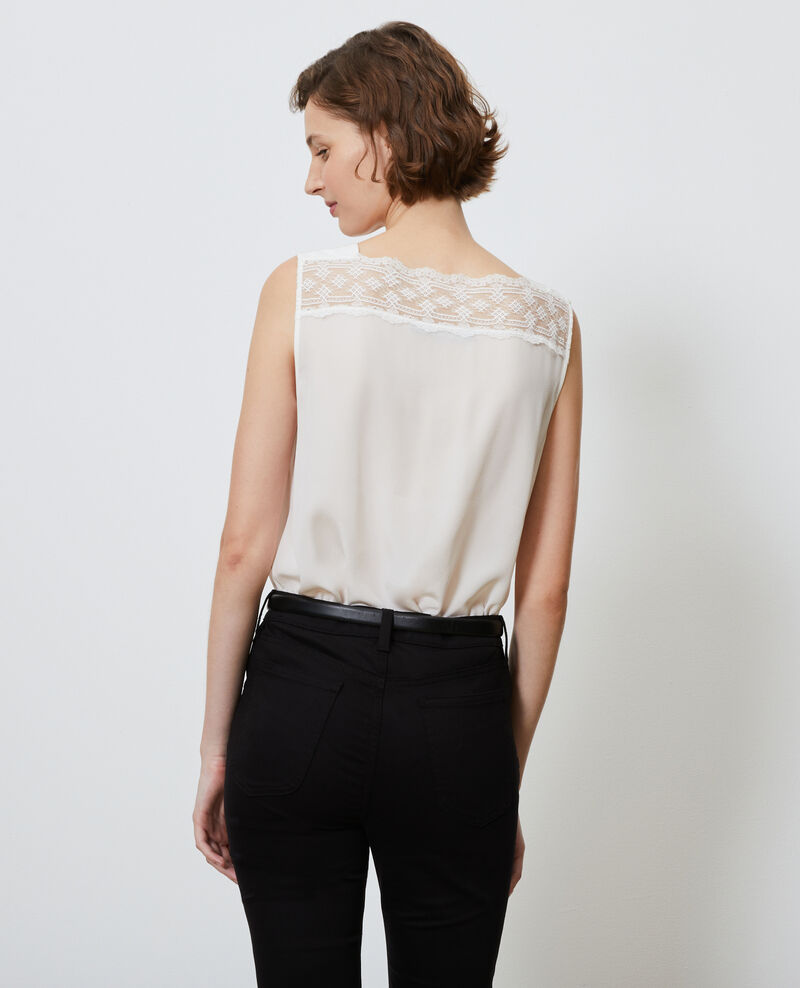 Strappy silk and lace cami Gardenia Lentelle