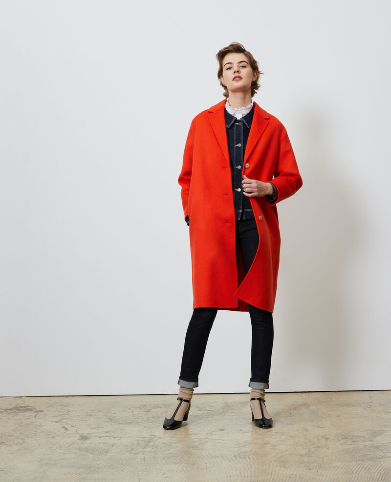 Wool coat Spicy orange Maclas