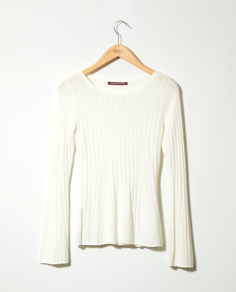 Ribbed wool jumper White 9diademe
