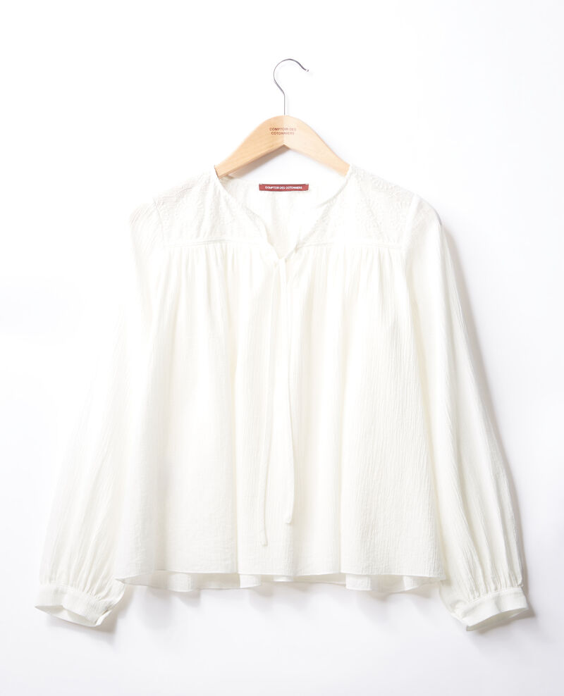 Blouse with lace  Blanc Fhistoire