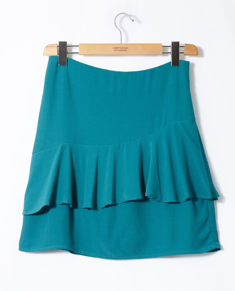 Short, frilly skirt Green Friand