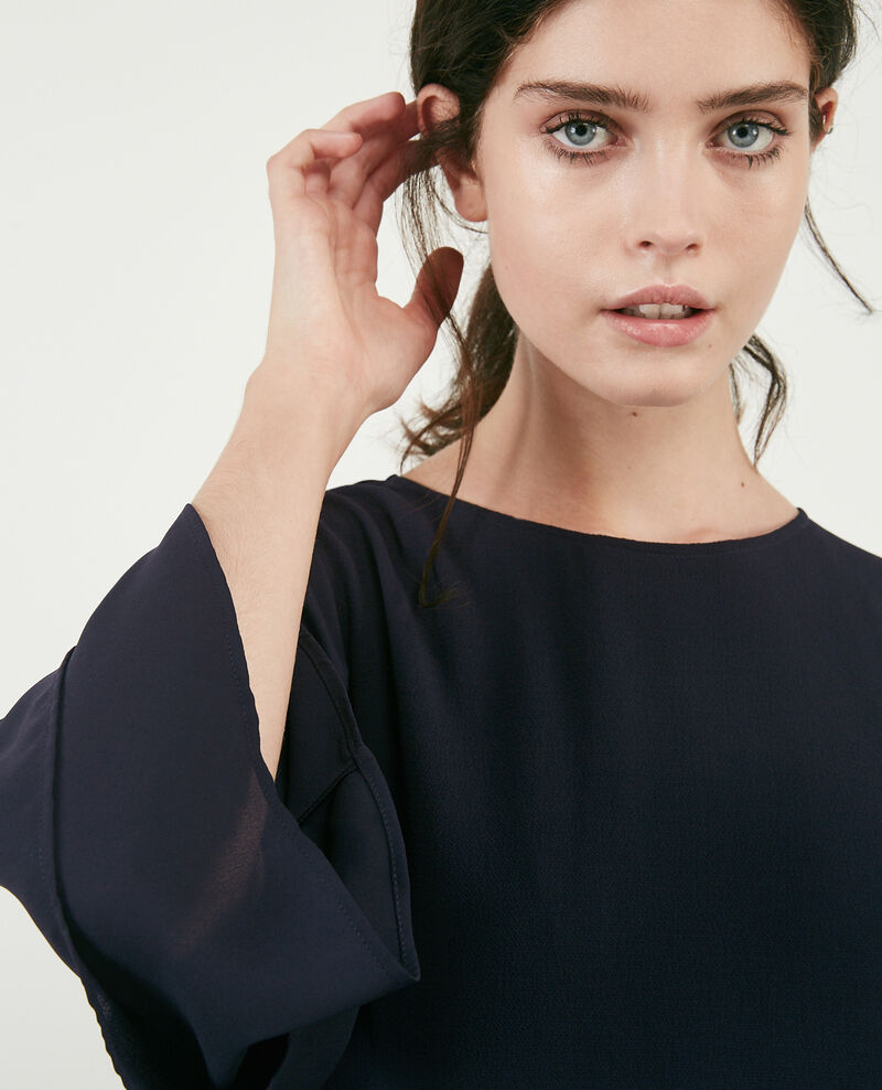 Dress with wide sleeves Navy Dolita