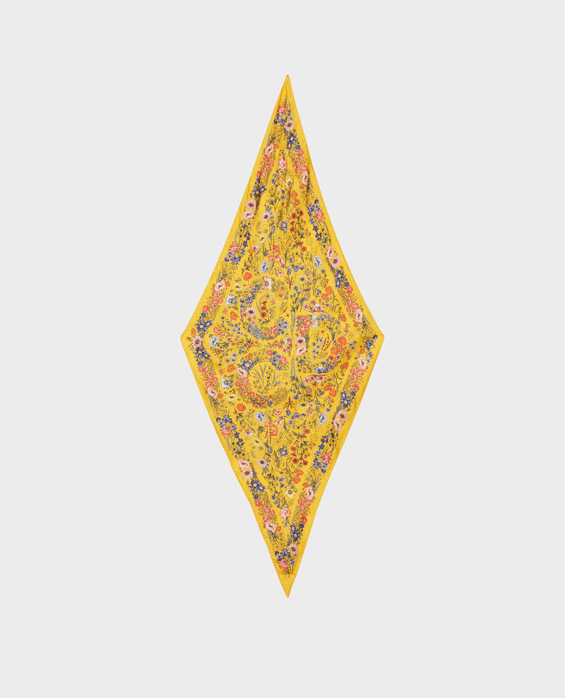 Silk diamond scarf Spectra yellow Nage