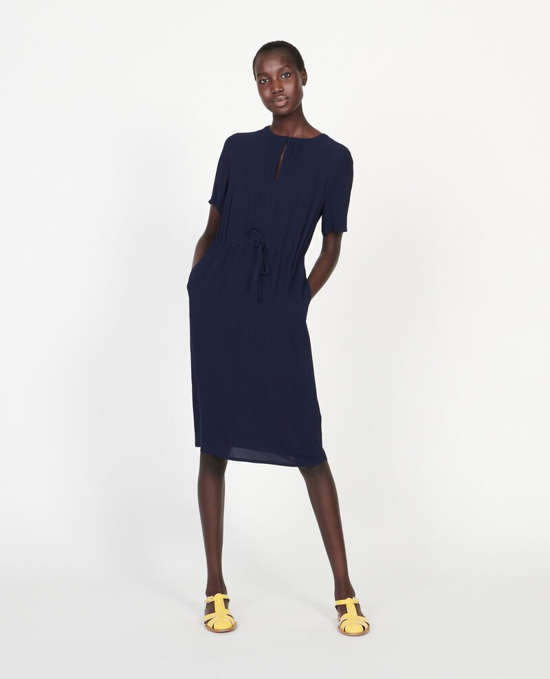 Straight and loose dress Maritime blue Legris