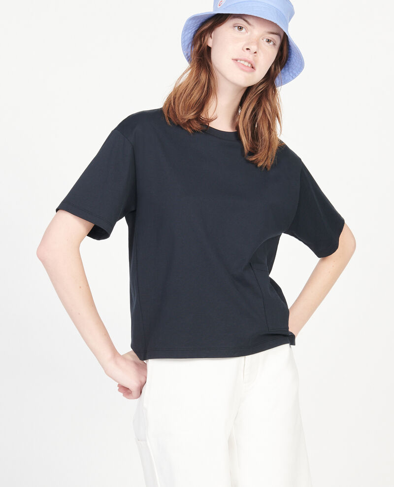 Mercerised cotton Oversize t-shirt Black beauty Lexana