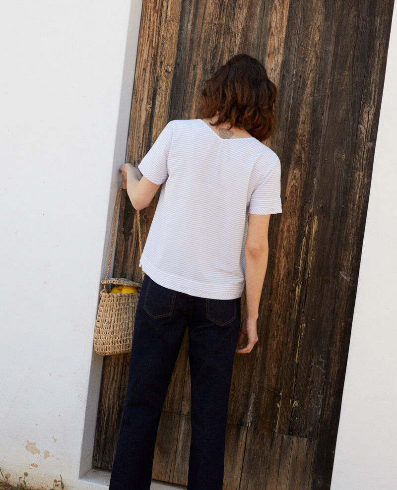 Striped blouse Blanc/indigo Ianane