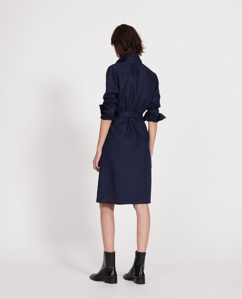 Linen dress Maritime blue Lesprit