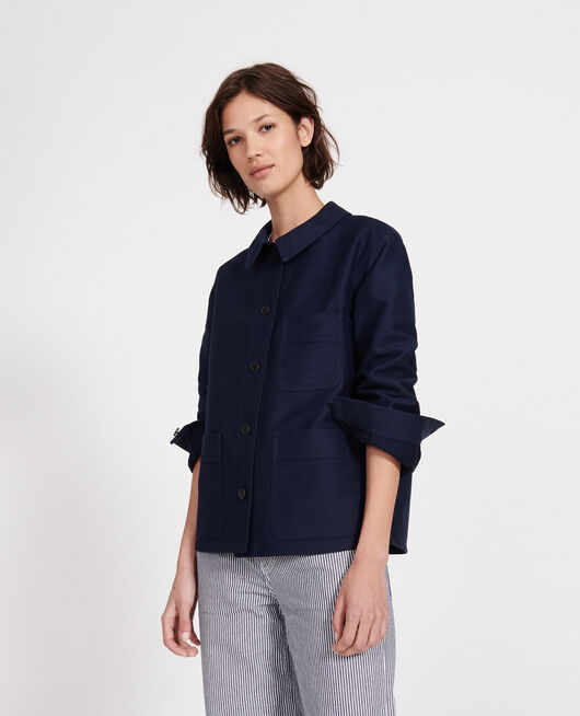 Cotton jacket MARITIME BLUE