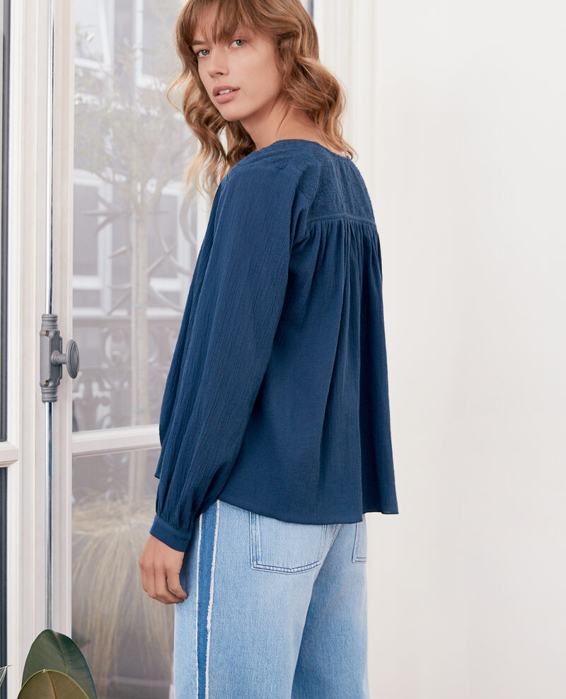 Blouse with lace  Indigo Fhistoire