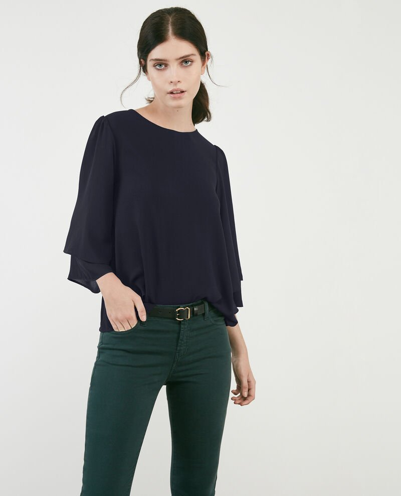 Blouse with wide sleeves Navy Diego