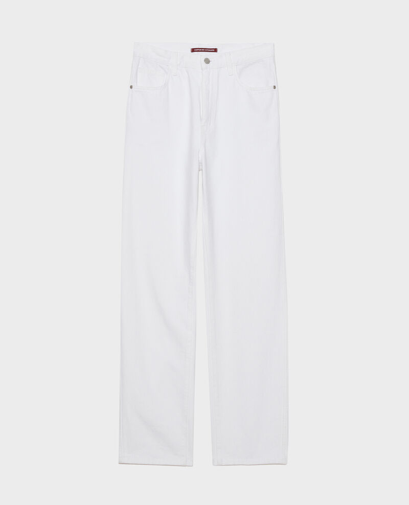 REGULAR - High-waist white jeans Optical white Napur