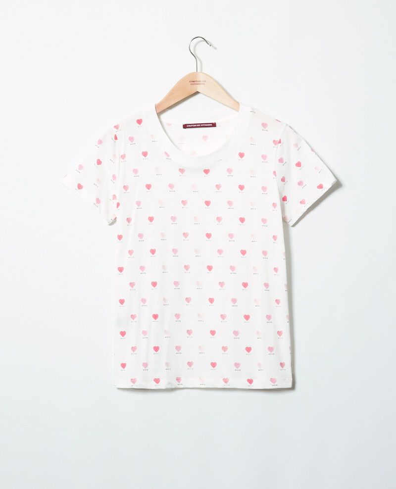 Heart print t-shirt Off white Ired