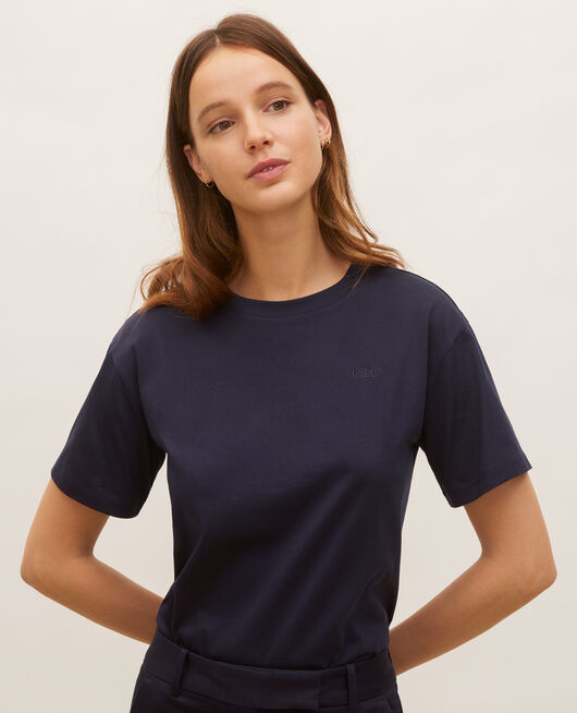 Oversize cotton t-shirt NIGHT SKY