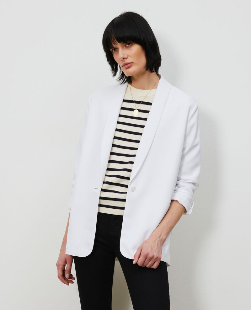 Tuxedo-style jacket Brilliant white Nevibal