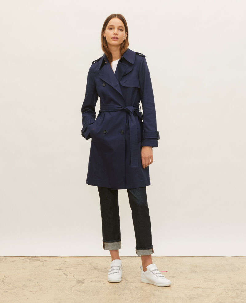Iconic cotton trench Maritime blue Lambert