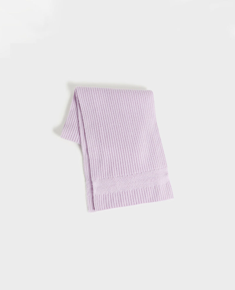 Cashmere scarf Pastel lilac Miosa