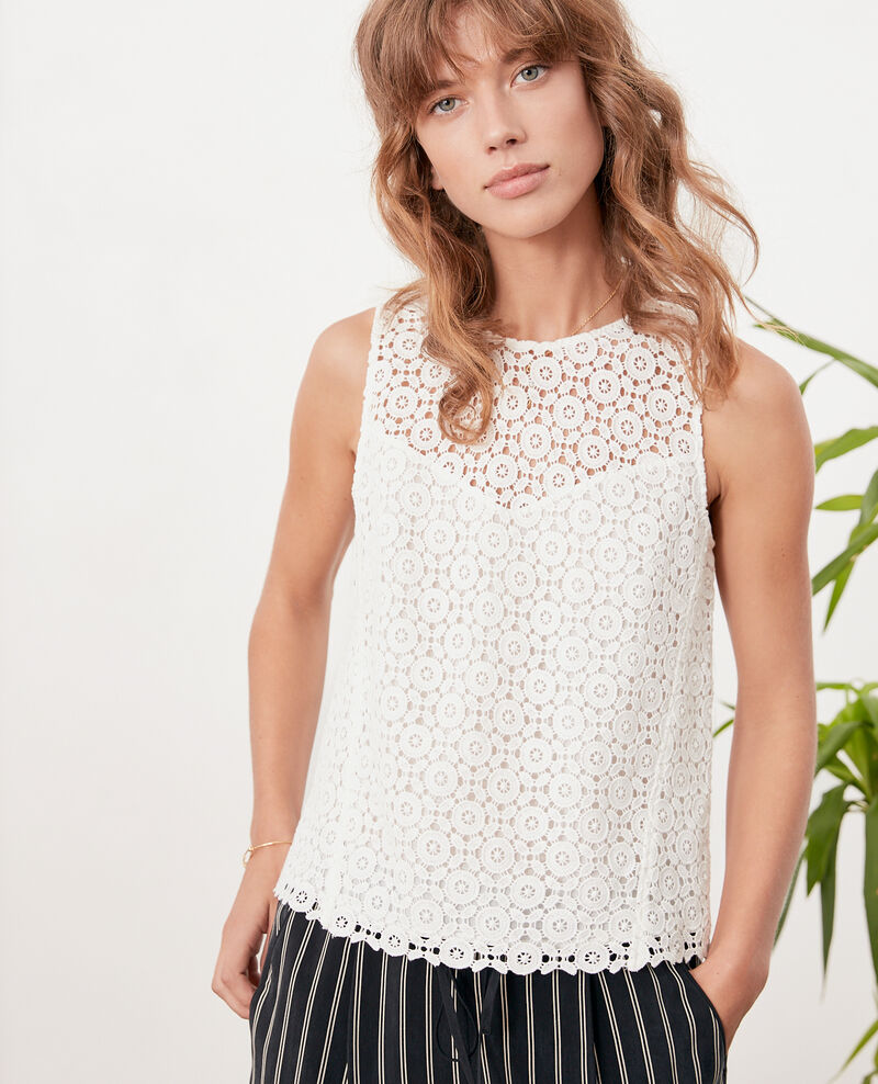 9a0b7c78feb Broderie anglaise top Off white - Foulouse