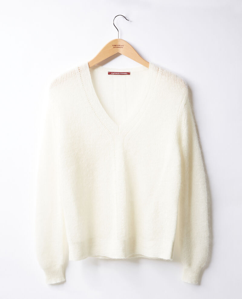 Jumper with mohair Off white Feever