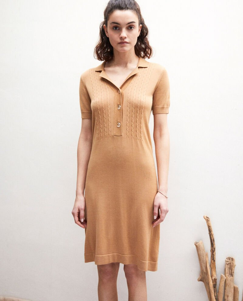 Knit dress Camel beige Idee