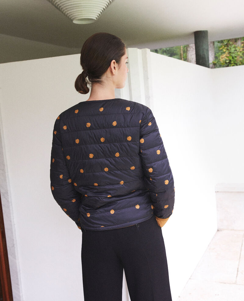 Reversible Mademoiselle Plume jacket Ad golden brown Gallopou
