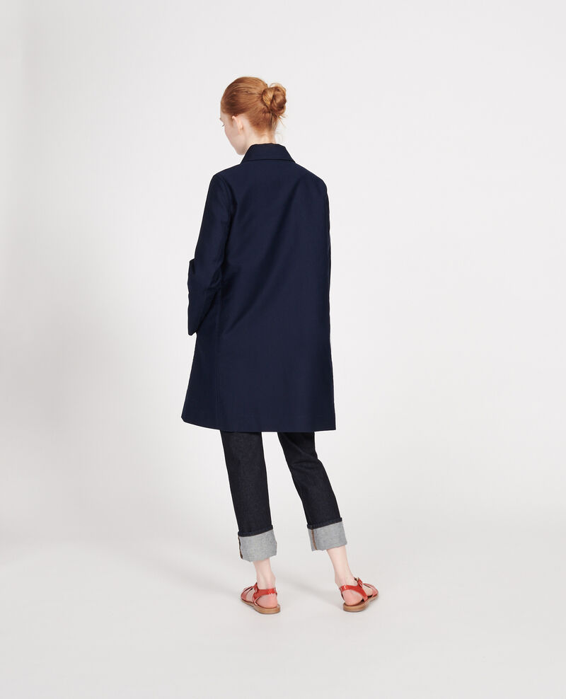 Cotton overcoat Maritime blue Loyale