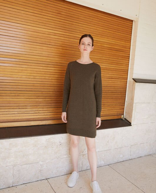 Cashmere dress OLIVE NIGHT