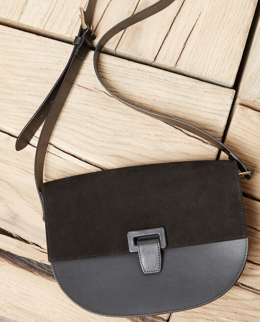 Large half-moon bag NOIR
