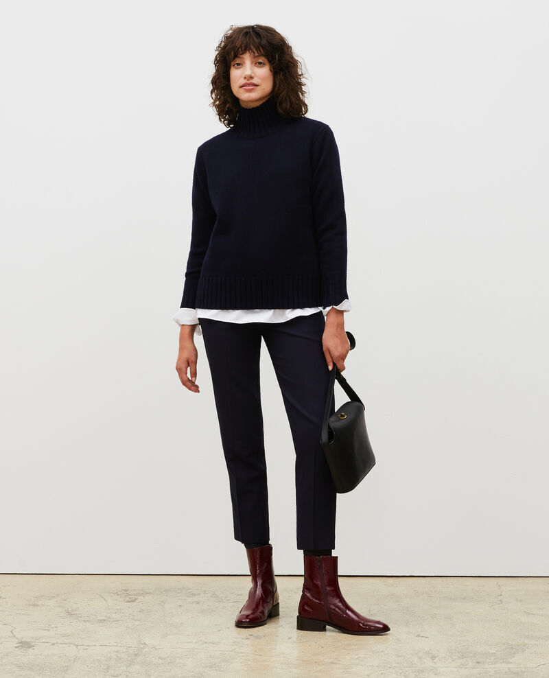 Chunky ribbed turtleneck jumper Night sky Marques