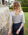 Rollneck cashmere-blend t-shirt Middle grey melange Jylka
