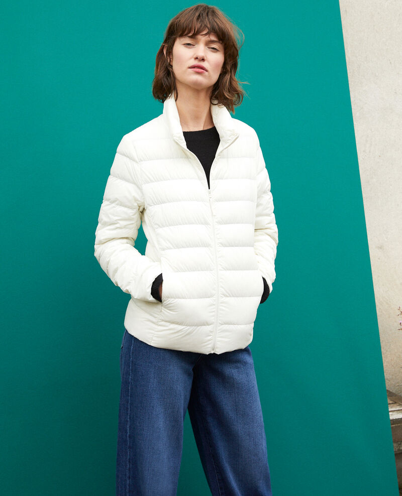 Ultra-light padded jacket with stand-up collar White Fuldown