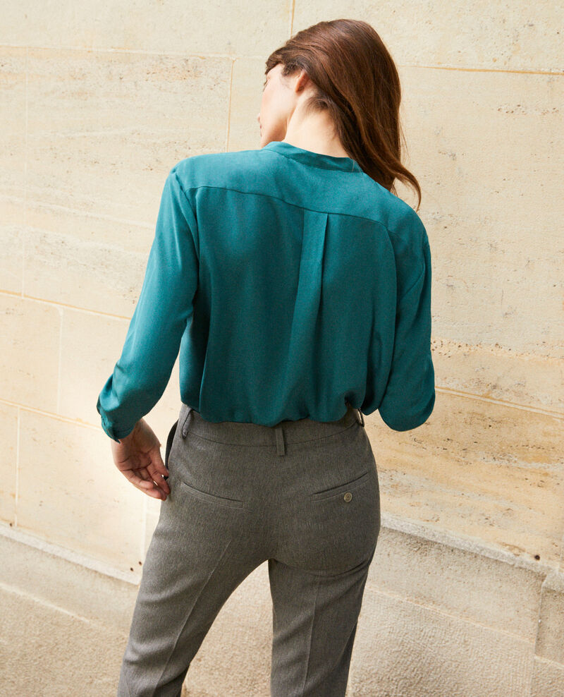 Blouse made of silk with lace detail Mediteranea Javant