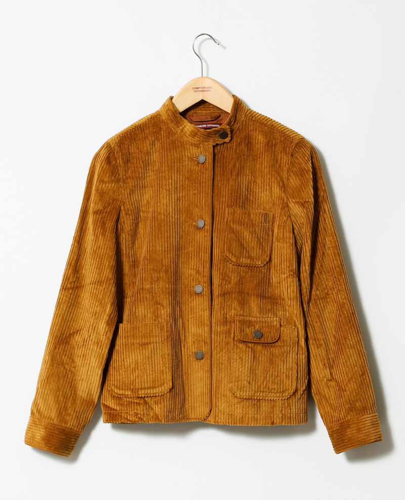 Ribbed corduroy jacket Golden brown Goiseau