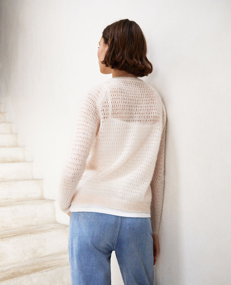 Novelty knit cardigan Light pink Isidore
