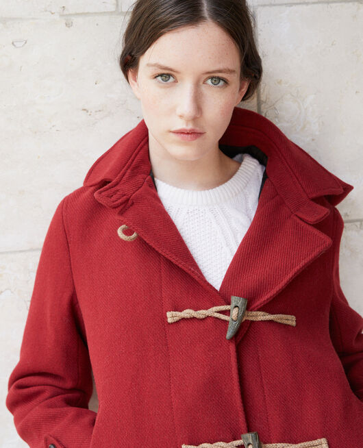 Short duffle coat Red